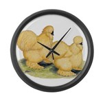 Buff Silkie Chickens Giant Clock