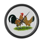 Mille Fleur Dutch Bantams Giant Clock