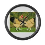 Wyandotte Rooster and Hen Giant Clock