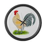 Porcelain Dutch Cock Giant Clock
