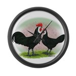 Whitefaced Spanish Chickens2 Giant Clock