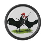 Whitefaced Spanish Chickens Giant Clock