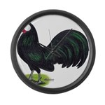 Rosecomb Rooster Giant Clock