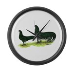 Black Sumatra Chickens Giant Clock