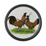 Gold Brabanter Chickens Giant Clock