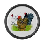 Assorted Cochins Giant Clock