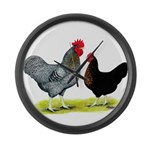 Black Sex-link Chickens Giant Clock