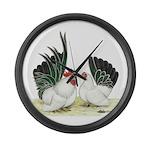 Black-tailed White Japanese B Giant Clock