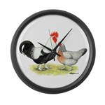 Dorking Chickens Giant Clock
