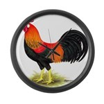 Brown Leghorn Rooster Giant Clock