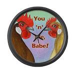 You N Me Babe! Giant Clock