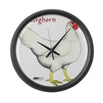 Leghorn White Hen Giant Clock