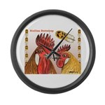Sicilian Buttercup Chickens Giant Clock