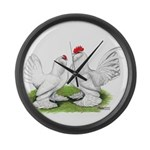 White d'Uccle Bantams Giant Clock