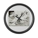 Moorhead Tumbler Pigeons Giant Clock