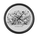 Shortface Tumbler Pigeons Giant Clock
