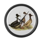 Crested Ducks Trio Giant Clock