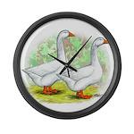 Embden Goose Pair Giant Clock