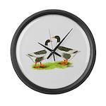 Pomeranian Geese Giant Clock