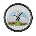 Sebastopol Goose Pair Giant Clock