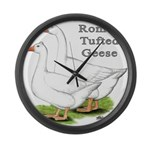 Roman Tufted Geese Giant Clock