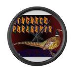 Ringneck Pheasants Giant Clock