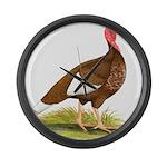 Bourbon Red Hen Turkey Giant Clock