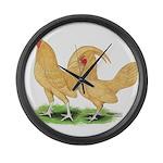 Buff Old English Bantams Giant Clock