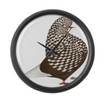 Brown Teager Pigeon Giant Clock