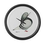 Silver Domestic Flight Giant Clock