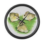 Snowy Mallard Ducklings Giant Clock