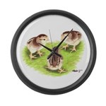 Silver Grey Dorking Chicks Giant Clock