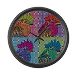 Roosters Gone Psycho Giant Clock