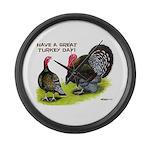 Turkey Day Giant Clock