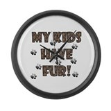 My Kids Have Fur! brown Giant Clock