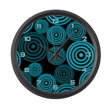 Aqua Circles Giant Clock
