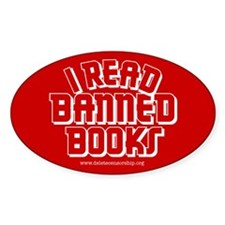 """Banned Books"" Oval Sticker (50 pk)"