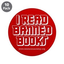 """""""Banned Books"""" 3.5"""" Button (10 pack)"""