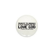 Quote - Newman - Love God Mini Button (10 pack)