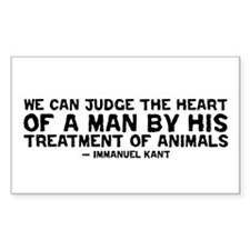 Quote - Kant - Heart of a man Rectangle Decal