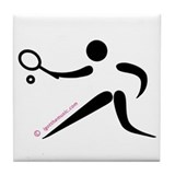 Tennis Black Tile Coaster