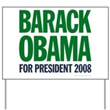 Obama-Biden Green Type Yard Sign