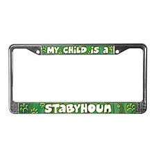 My Kid Stabyhoun License Plate Frame