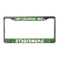 My Children Stabyhoun License Plate Frame