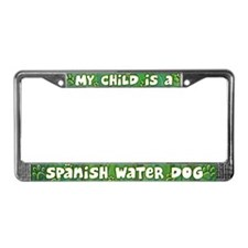 My Kid Spanish Water Dog License Plate Frame