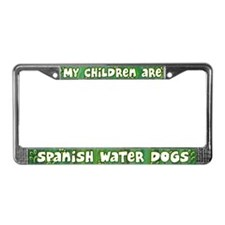 My Children Spanish Water Dog License Plate Frame