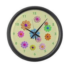 Fun Flowers Giant Clock