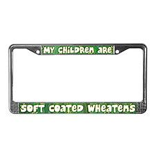 Children Soft Coated Wheaten License Plate Frame