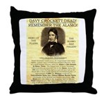 Davy Crockett Throw Pillow