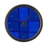Blue Grid Giant Clock